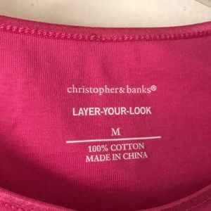 Christopher & Banks Tops - Christopher & Banks pink tank top Size Medium